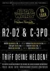 Weltpremiere – STAR WARS at Madame Tussauds Berlin - R2 D2 und 3 CPO auf Promotour in Dresden